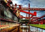 Poster 70 x 50 cm: Kokerei Zollverein HDR von Nova Art -