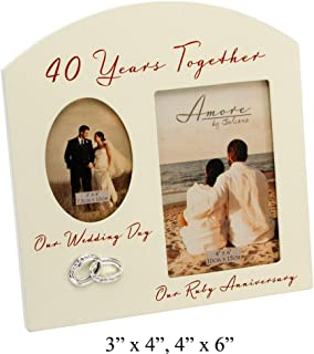 Best 40th wedding anniversary frames Reviews