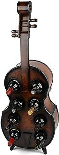 HOPUBO Casier À Vin Vintage en Bois, Support De Bouteille De Guitare Violoncelle Cadeau Barware, Organisateur De Support D...