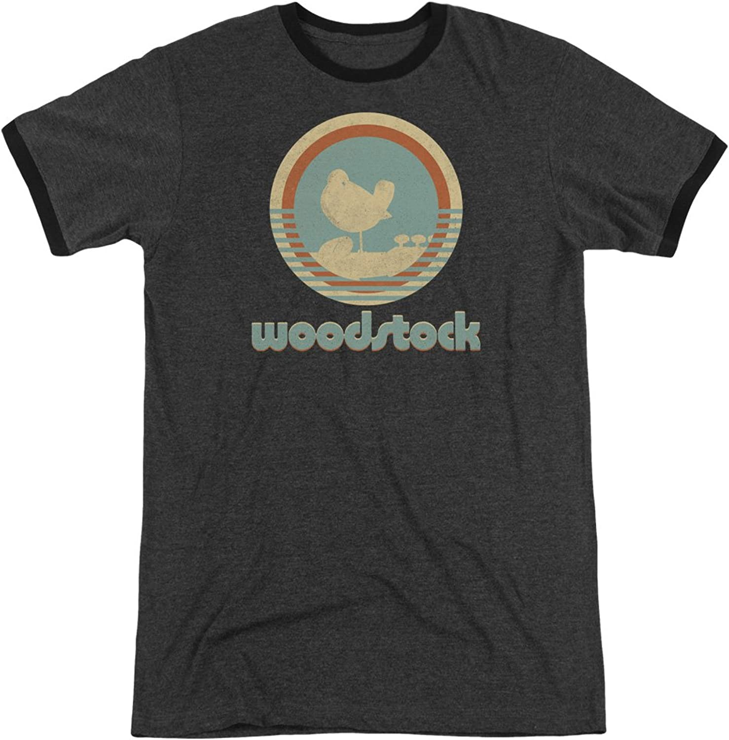 e3be37ab8 Woodstock Mens Ringer TShirt Circle Bird ntqtrt2596-Sporting goods ...