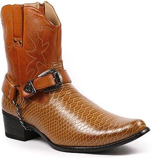 eba909e5b Metrocharm Diego-01 Men s Belt Buckle Chain Strap Western Cowboy Boots