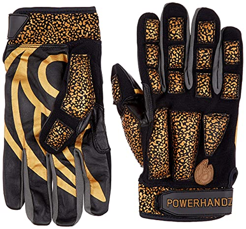 POWERHANDZ Weighted Anti-Grip Basketball Gloves for Ball Handling, Improved Dribbling, Strength and Resistance Training - XX- Large- 1.0 lb