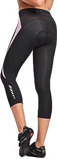 BALEAF Sports Women's Cycling Pants 3D Padded Bike Long Tights Wide Waistband UPF 50+