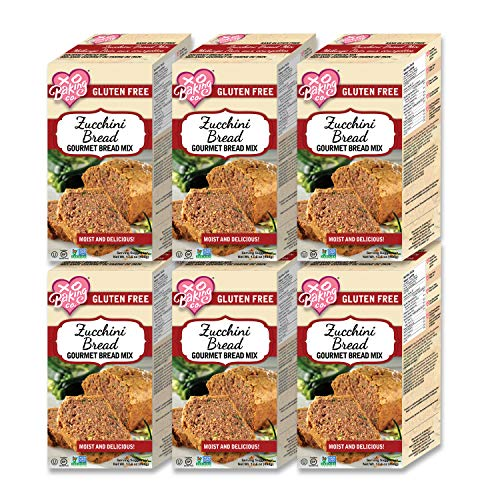 XO Baking Zucchini Bread Mix - Non-GMO Gluten-Free Zucchini Bread Mix - No Preservatives or Artificial Flavors (1.1 Pound (Pack of 6)) ((Case of 6))
