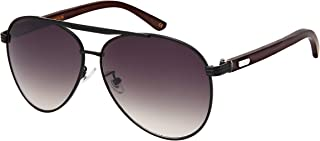 Aviators Sunglasses Wood Bamboo Classic Design Color or Mirror Lens for Men Women with Free Pouch/Cleaning Cloth