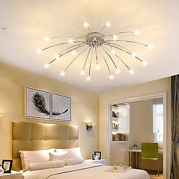 Lámpara de techo para salón comedor moderna LED regulable acrílico ...
