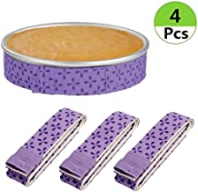 Cake Strips Bake Even 2 pcs,Bake Even Strip Cake Pan Dampen Strips,Super Absorbent Thick Cotton for Baking