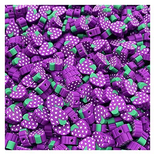 BOSAIYA Zz0 30 unids/Lote 10 mm Beads de Frutas Polímero Clay Beads Color Mezclado Polmer Polmer Spacer Beads para joyería Fabricación de Bricolaje Collar de Pulsera Tl519 (Color : 07)