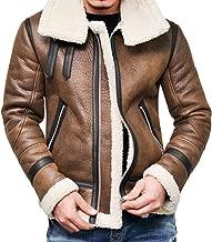 Clearance Forthery Men Faux Fur Hooded Winter Warm Fleece Lined Down Jackets Coat