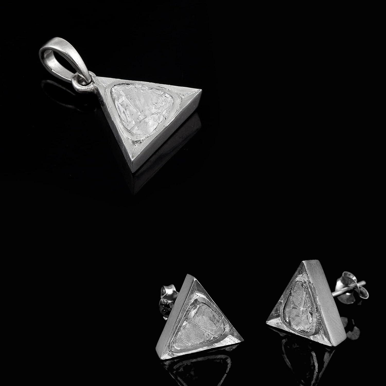 1.7 CTW Natural Minneapolis Mall Finally popular brand Diamond Triangluar Minimalistic Solitaire Polki
