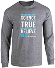 Pop Threads The Good Thing About Science NDGT Quote Full Long Sleeve Tee T-Shirt