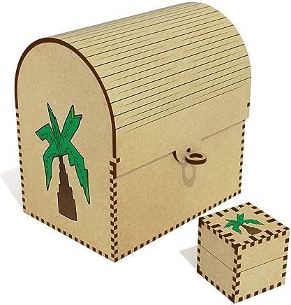 Azeeda  Palm Tree  Treasure Chest Jewellery Box  TC00041000
