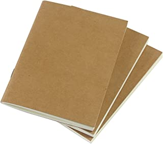 (Set of 3) Travelers Notebook Inserts Passport Size, 32 Sheets Each Book, 100gsm Blank Paper