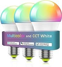 Smart Light Bulb No Hub Required, Zombber A19 E27 7w (60w Equivalent) 2700k-6500k Dimmable Multicolor WiFi LED Bulb, Compa...