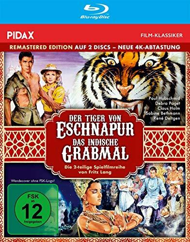 Der Tiger von Eschnapur + Das indische Grabmal - Remastered Edition (neue 4K Abtastung) / Die komplette 2-teilige Abenteuerfilmreihe (Pidax Film-Klassiker) [Blu-ray]