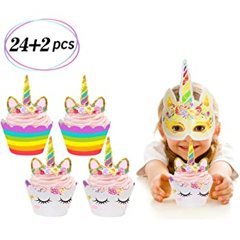 Flamingo Cupcake Topper 10 Pack Cupcake Topper Decoration Cake glitter foamy Fiusha