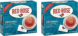 Red Rose Original Black Tea Bags - 100 Count - Pack of 2 (200 Tea Bags Total)