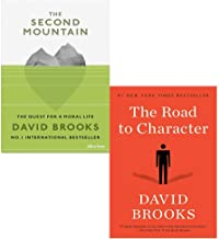 David Brooks 2 Books Collection Set (Second Mountain [Hardcover], Road to Character)