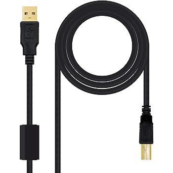 AISENS A101-0009 - Cable USB 2.0 Impresora con ferrita de 2 m ...