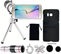Elecguru Phone Camera Lens, 18x Universal Optical Cell Phone Lens Kit with Tripod and Phone Holder,Phone Case for Samsung Galaxy S6(Gift)