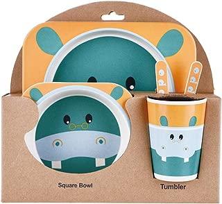 Approuv/é FDA fourchette des couverts Avec des compartiments Vaisselle /écologique pour enfants Assiette cuill/ère Micro-ondes et lave-vaisselle Assiette antibact/érienne pour b/éb/é enfant