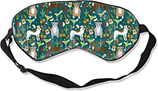 Pitbull Fiesta Party Margarita Party Cinco De Mayo Sleep Mask Pack Men and Women Or Children Eye Mask No Pressure Eye Masks for Sleep & Travel