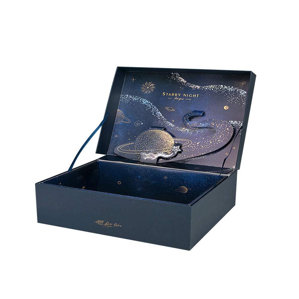 gousheng Caja Caja De ArtíCulos De Navidad Caja De Regalo EstéReo Caja De Regalo De CumpleañOs Estrellada Caja VacíA: Amazon.es: Hogar