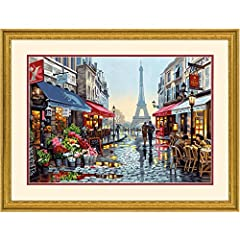 Paint by numbers kit contains high-quality acrylic paints, (1) pre-printed textured art board, (1) set of instructions, and (1) paintbrush. Finished painting measures 20'' W x 14'' L. This breathtaking Paris scene is yours to paint with this acrylic ...
