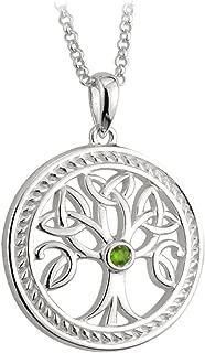 Sterling Silver Irish Celtic Tree of Life Pendant Trinity Knot Leaf Detail by Solvar