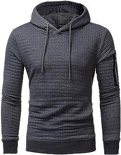 ZhixiaYS Mens 3D Printed Hoodie Sweatshirt Pullover Loose Sweatshirt with Big Pockets Hooded Shirt