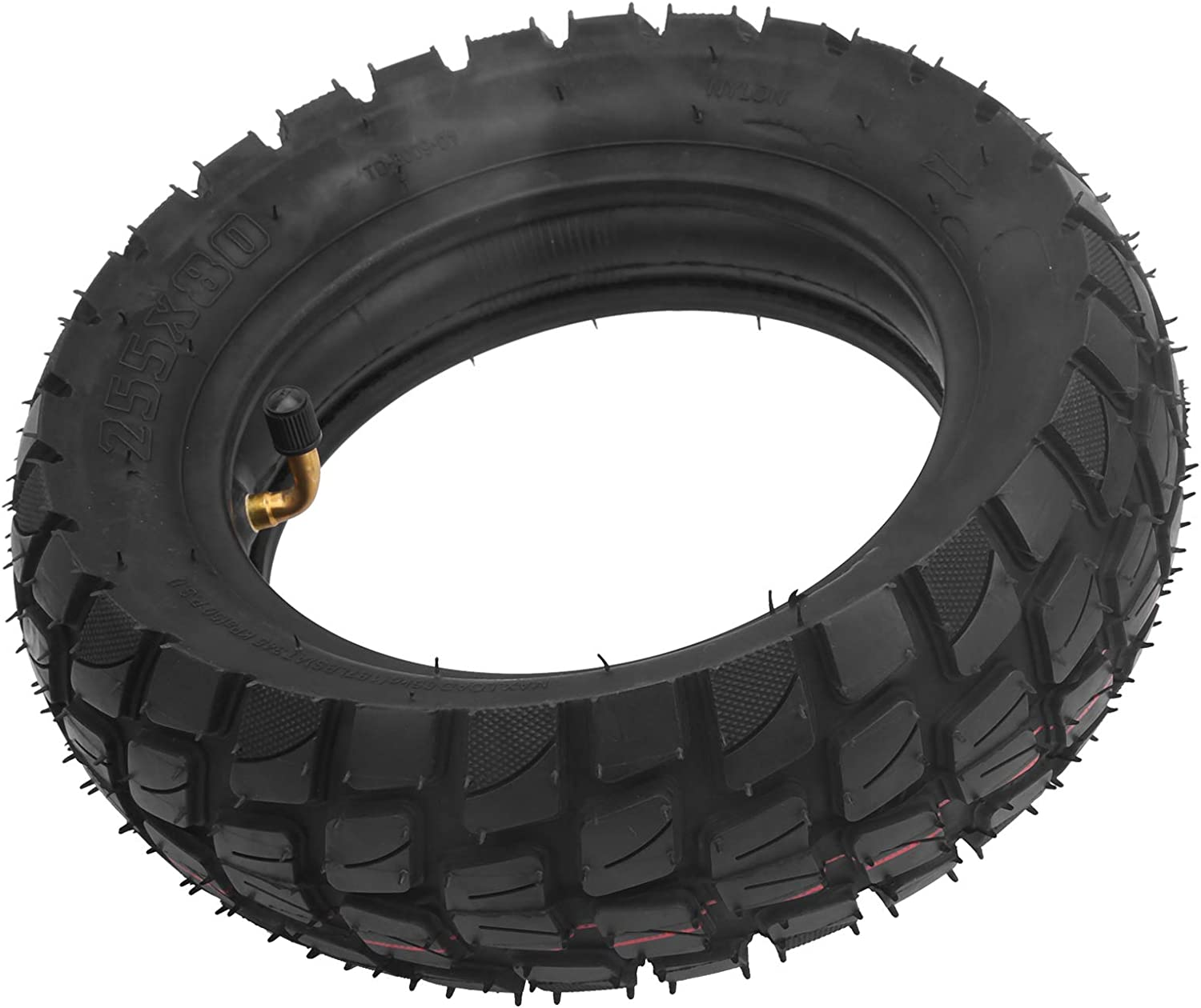 VGEBY Electric Scooter Tire/Wheel, 10in Electric Scooter Tire with Inner Tube Inflatable Rubber Tyre Replacement 255x80
