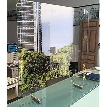 【HIGIENE y DESINFECCI/ÓN】 ventana 50x20 Vidrio templado 6 mm 70 ancho x 80 altura Varias Medidas Mampara Pantalla PROTECCION Mostrador CRISTAL de SEGURIDAD