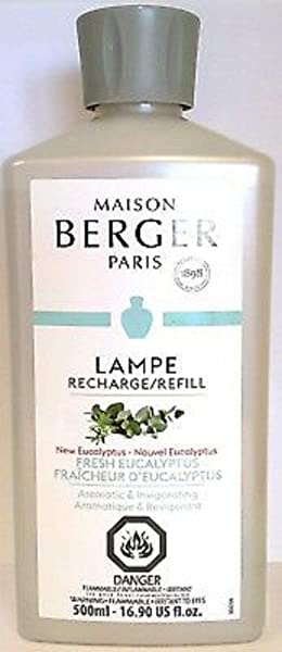 Maison Berger Lampe Berger Fragrance Fresh Eucalyptus A Aromatic Invigorating Fragrance 33 8 Ounce Nonreturnable Item Can Not Be Shipped Into California