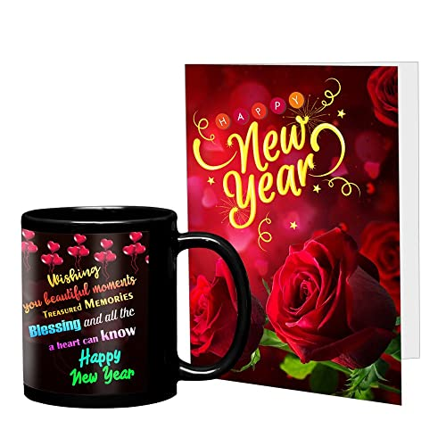 VESPL Combo Pack of Greeting Message Card with Ceramic Coffee Mug