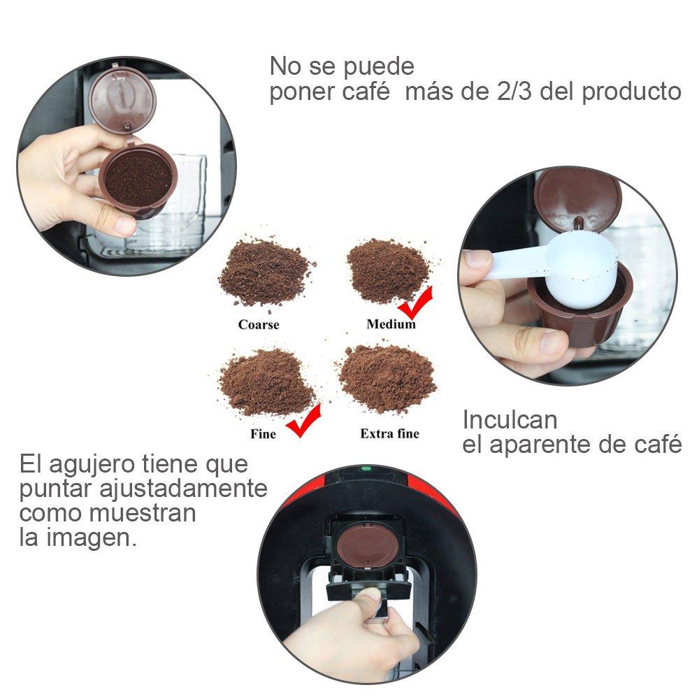 Lictin 6 Pack Cápsulas Filtros de Café Recargable Reutilizable ...