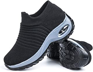 Basket Femme Chaussure de Sport Sneakers Tennis Air Course Running Fitness Gym Athlétique Knit Respirante Confortable Outd...