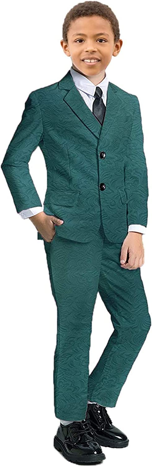 Special price for a limited time Boys Suit Louisville-Jefferson County Mall 3 Pieces Formal Floral Tuxedo Slim Wedding Jacket Fit