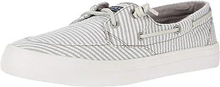 Sperry Women's Crest Boat Sneaker, GREY SEERSUCKER, 8.5 Medium