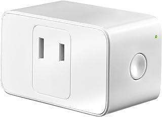 Meross WIFIスマートプラグ スマートコンセント ハブ不要 スイッチ 無線リモコン ソケット ワイヤレス Alexa/Google Home/IFTTT対応 電源制御 遠隔操作 日本語の説明書付き(1個入り) MSS110JP ホワイト-1