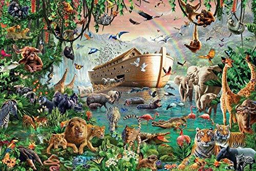 YYTTLL Flat Puzzle, 1000 Stück Holzpuzzles, Für Erwachsene/Kinder/Kinder/Studenten Unisex Puzzlespiele/Schiff Und Tier