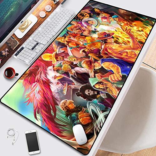 Alfombrilla de ratón de anime de una pieza, antideslizante, alfombrilla de escritorio personalizada, elegante para oficina, computadora, profesional Esports 8003003mm-A_8003003 mm