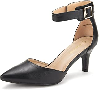 DREAM PAIRS Women's Lowpointed Low Heel Dress Pump Shoes