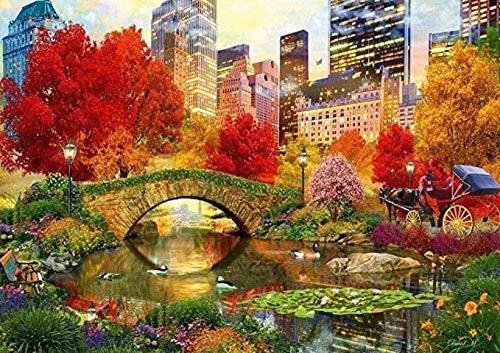 Rompecabezas para Adultos 3000 Piezas   Central Park NYC Kit de Bricolaje Rompecabezas de Madera Juguetes educativos para niños Regalo para aliviar el estrés 44x35in