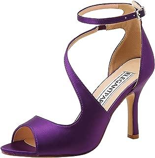 Best purple satin sandals Reviews