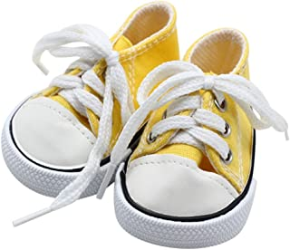 Linhtinhname Dolls Accessories 18 inch Doll Shoes lace up Sneakers Shoes for 18 inch Our Generation Dolls Accessories - by Teene - 1 PCs
