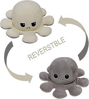 CJRNBU Poulpe Peluche Reversible, Octopus Peluche Double Face Couleurs, Poulpe Reversible Humeur Cadeaux Jouets CréAtifs p...
