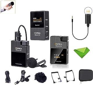 【技適マーク】Comica BoomX-D 2.4G 小型 ワイヤレスマイク 外付けマイク SLRラベリアマイク録音 マイク iPhone/カメラ用, 2送信機&1受信機 低レイテンシ 高音質伝送 Tik tok、会議、ポッドキャスト、ビデオ、...