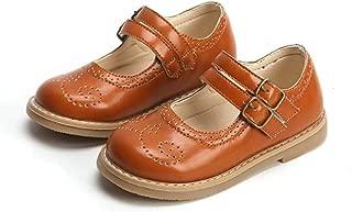LFHT Kids Gril's Oxford Shoes Strap School Uniform Dress Mary Jane Flats Cutout Footwear (Toddler/Little Kid)