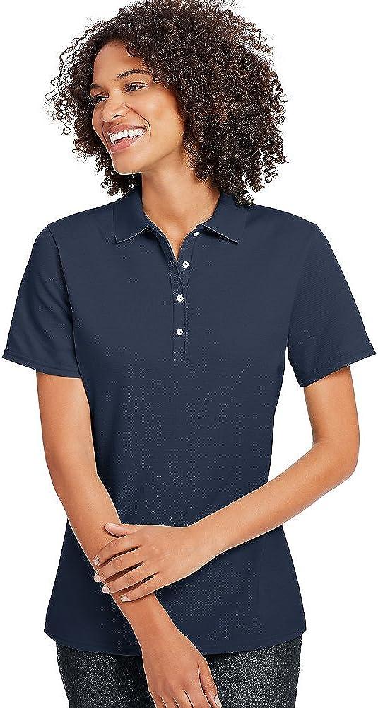 Hanes X-Temp Women's Pique Polo Shirt_Navy_L
