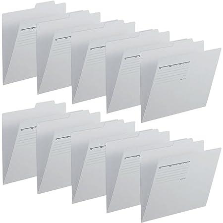 プラス 個別フォルダー 再生紙 A4-E グレー 10枚パック FL-061IF 87-099